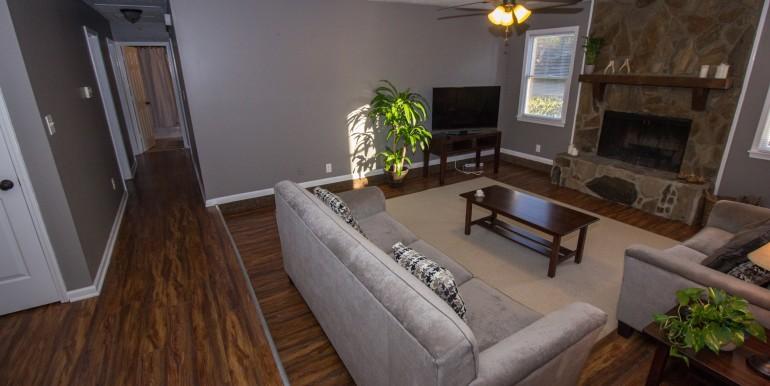 Living Room Hallway to Bedrooms